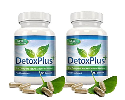 Original Detox Plus Colon Cleanse - 2 Dosen je 90 Kapseln - Darmreinigung - Top Qualität - Max 90 Kapseln
