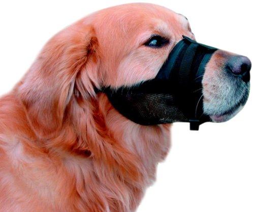 Nobby Bozal para perro, ajustable, fabricado con nailon, talla4-XL, 23–31cm, color negro