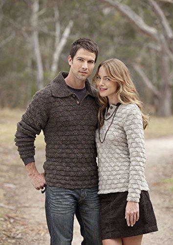 Strukturierte Pullover für Sie und für Ihn in Patons Wolle Blend Aran–3740 (Patons Muster Wolle)