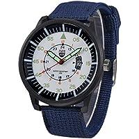 Xinantime Reloje Hombre,Xinan Reloj Pulsera de Deporte Negro Militar (Azul)