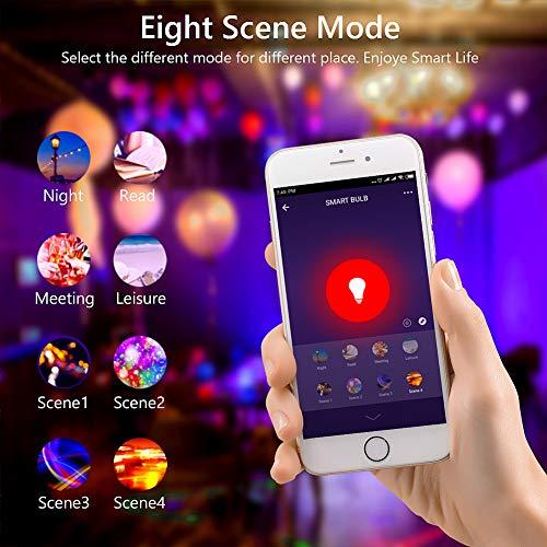 2 Pcs bakibo Smart WiFi LED Lampen Gl/ühbirne Dimmbar 9W 1000Lm Google Home und IFTTT E27 Intelligente Multicolor Birne Kompatibel mit Alexa Echo A19 90W Gleichwertige RGB Farbwechselbirne