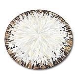 Runde Leder Nähte Teppich Luxus Rindsleder Teppiche für Wohnzimmer Schlafzimmer Studie Moderne Einfachheit Stil Couchtisch Sofa Matte Dekoration Teppich (Größe: Durchmesser 100 cm)