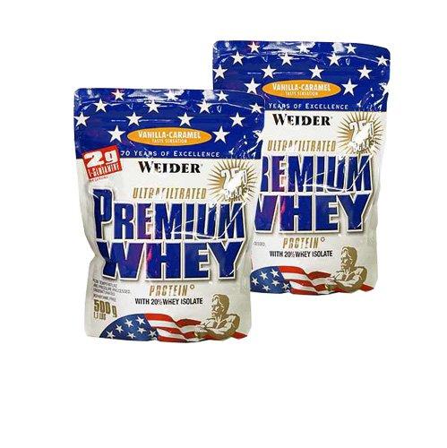 Weider Premium Whey Protein ( 2 x 500g = 1000 g), Erdbeere-Vanille