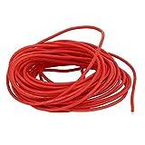 DealMux 8M 24AWG 10KV elettrico del centro di rame silicone flessibile filo rosso del cavo