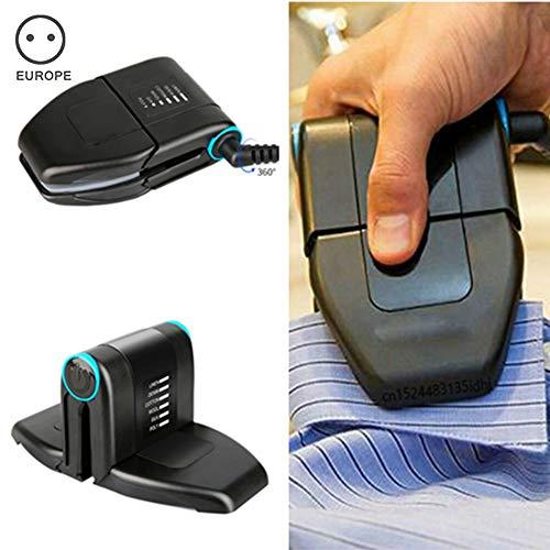 Dr. Li Mini Plancha portátil de Cuello Plegable para Viajes de Negocios y para el hogar, con manija Antideslizante y Suela Antiadherente Ropa portátil de Mano Plancha eléctrica a Vapor (UK Plug)