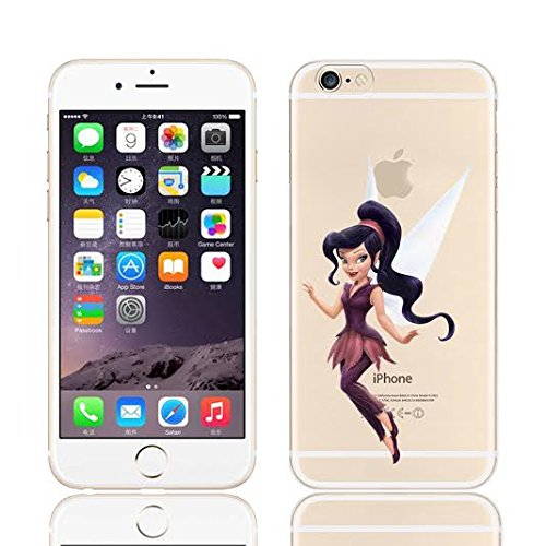 DISNEY TINKERBELL & FAIRY FRIENDS CLEAR TPU SOFT CASE FOR APPLE IPHONE 8 PLUS VIDIA VIDIA