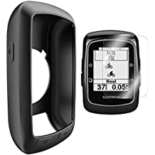 Garmin Edge 800 810 /Approach G6 G7 Funda de Silicona + Protector de Pantalla, TUSITA® Paquete de Protección de Reemplazo Funda Suave Accesorios para Garmin GPS Bike Computer (NEGRO)