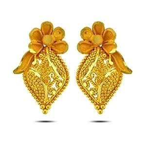 P.N.Gadgil Jewellers 22k Yellow Gold Stud Earrings