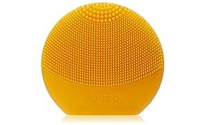 FOREO LUNA play plus, Spazzola pulizia viso impermeabile con batteria sostituibile, Giallo (Sunflower Yellow)