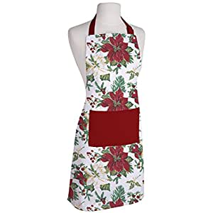 AIRWILL Cotton Printed Adjustable Buckle on Top and 2 Long Ties with 2 Sides (65x80cm, Flower Black) - Pack of 1