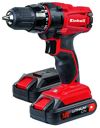 Einhell Taladro a batería TC-CD 18-2 Li Kit (iones de litio, 18...