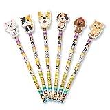 Bleistifte mit großem Radiergummi in Katzen-/Welpenform, 12 Stück Ideal als Geschenk für Schüler, Partytüten usw.