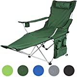 Miadomodo Folding Camping Chair Outdoor Fishing Garden Festival Furniture with Cup Holder, Headrest, Carrying Bag in Different Colours and Sets
