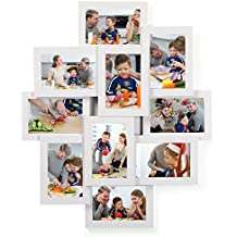 SONGMICS Marco de Fotos Collage para 10 Fotos de 10 x 15 cm, Hecho de