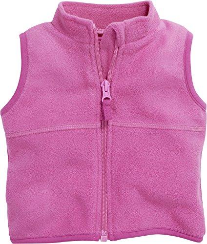Schnizler Unisex Baby Weste Fleece, Oeko-Tex Standard 100, Rosa (Pink 18), 74
