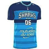 SPALDING - Maillots de basket Antibes Sharks Réplica Extérieur 2017-2018 Maillot de Basketball Homme, Ciel, FR : XL (Taille Fabricant : XL)