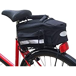EVG bicicleta bolsillos brazo Pack bolsa para portaequipajes con plastificadora, 1x Packtasche Toptasche