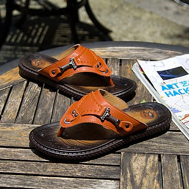 Uomo Slippers & Estate Comfort Light Suole PU all'aperto scarpe casual Tallone piano d'acqua Sandali sandali US8 / EU40 / UK7 / CN41