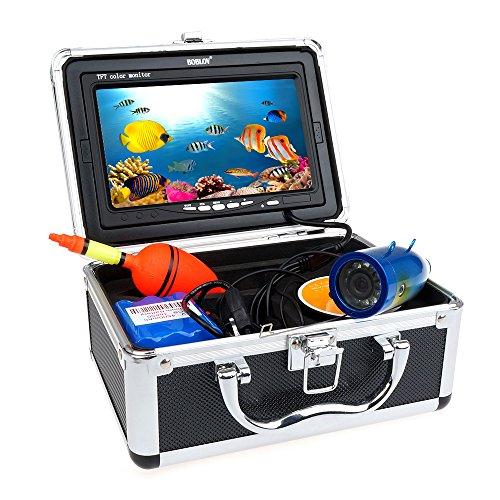 BOBLOV 30m IR 7 Zoll 1000TVL Fisch Sucher Unterwasser Videokamera Fischen-Ausrüstung
