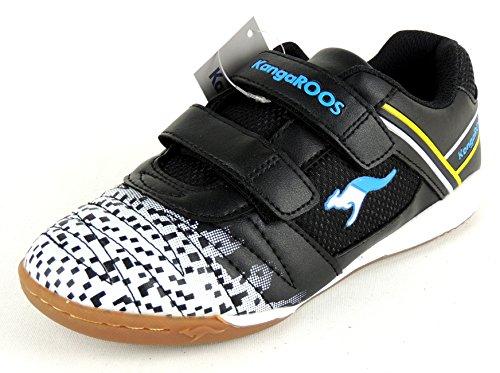 KangaROOS - Kangacourt 2075 B, Scarpe fitness Bambino Nero/Blu