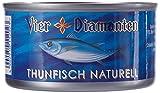 Vier Diamanten Thunfischfilets Naturell - FQSP, 4er Pack (4 x 195 g)
