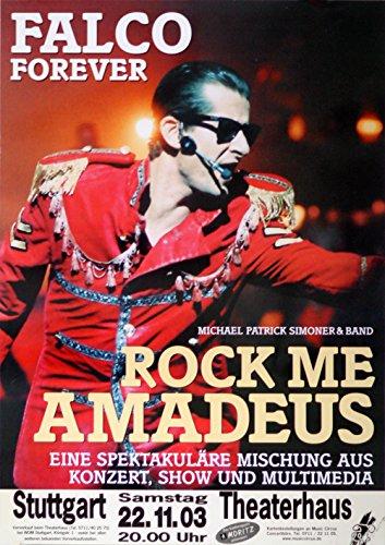 falco poster leonatica Konzertplakat Michael Patrick Simoner, Falco Forever 2003, Rock Me Amadeus