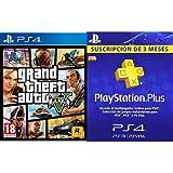 Grand Theft Auto V (GTA V) + PlayStation Plus - Tarjeta de Suscripción de 3 meses