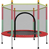 55 Zoll Trampolin Haushalt Kind Indoor Jumping Bett mit Schutznetz Erwachsene Kind Fitness Familie Spielzeug Max Belastung 440lbs preisvergleich bei fajdalomcsillapitas.eu
