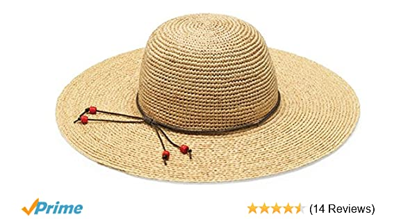 86e745f7 Wallaroo Hat Company Women's Napa Sun Hat - UPF 50+, Broad Brim, Raffia,  Elegant Style, Designed in Australia, Natural: Amazon.co.uk: Clothing