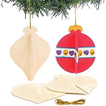 Lavoretti Di Natale 3d.Baker Ross Palline Di Natale 3d In Legno Perfette Per