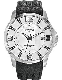 5a239f7ab6f5 Hector H 665361 - Reloj analógico de cuarzo para hombre con correa de piel