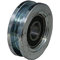 Rueda de puerta corredera rueda de la rueda 60 mm Rueda de acero cuadrado de la rueda de acero en forma de U