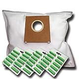 40 Staubsaugerbeutel + 40 Duftstäbe geeignet für Bosch BGL25A100