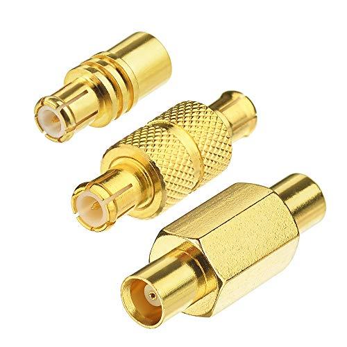 Eightwood MCX Adapter WLAN/DAB Antenneadapter 3 Kit für MCX Kabel WLAN Antenne Auto Radio DAB Antenne MEHRWEG -