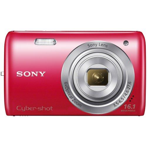 Sony DSC-W670 Cyber-Shot Fotocamera da 16.1 Megapixel, Zoom Ottico 6X, Display da 2.7', Rosso