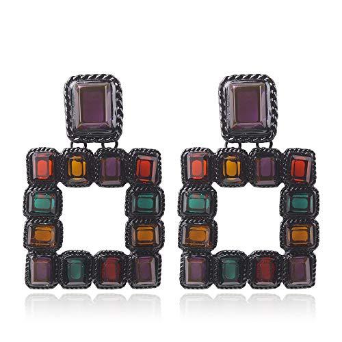 Neue Farbe Kristall retro Ohrringe, Persönlichkeit net rot sexy Prostituierte Nachtclub Ohrschmuck Farbe + ()