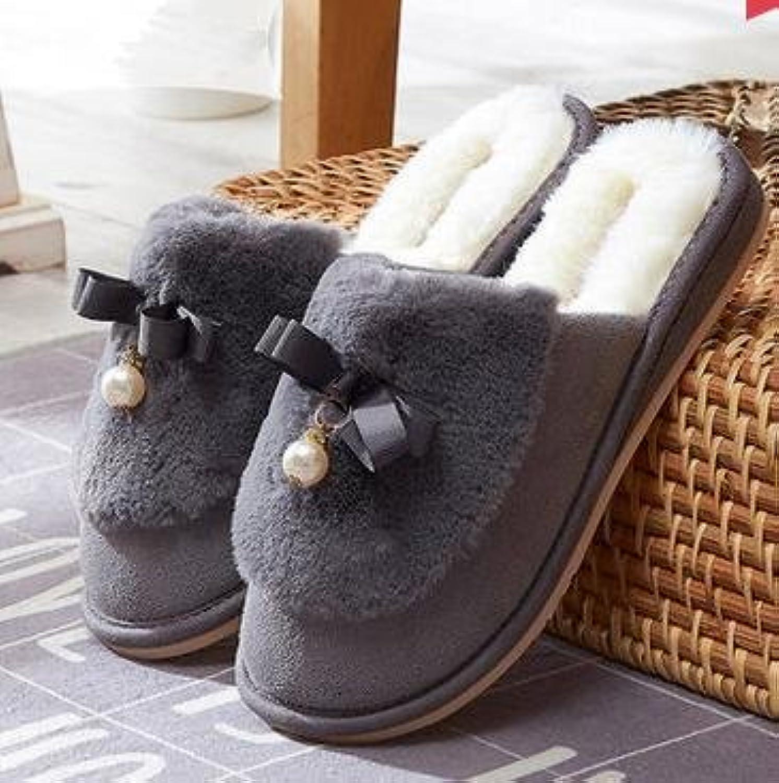 Otoño de mujer invierno moda algodón casa zapatillas Casa zapatillas de felpa caliente zapatillas lindos anti...
