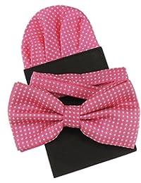 Men's 100%  soie pour soirée mariage Mariés Cravate Fine Motif à pois avec nœud Papillon & poche carré dans plus de 20 couleurs