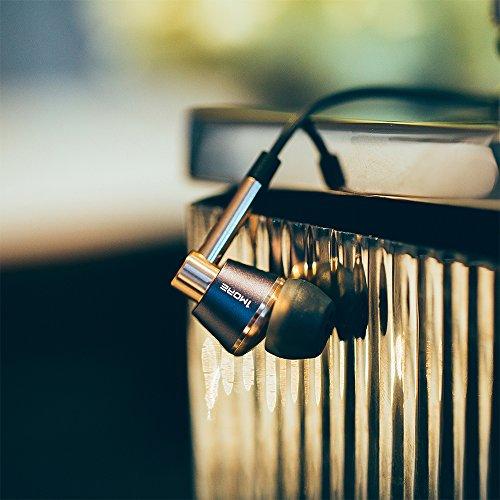 1MORE E1001 Triple-driver Hi-Fi Kopfhörer In-Ear Ohrhörer Hi-Res Audio mit Mikrofon und Fernbedienung Kompatibel mit iOS und Android (golden) - 7