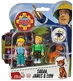 Feuerwehrmann Sam - Spiel Figuren Set II - Sarah, James & Lion