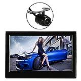 KKmoon Auto Kabellosen Rear View Monitor 5-Zoll-TFT LCD-Display mit Absaugung Stand Rückwärts Sichern System + Mini-Kamera