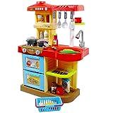 """deAO Kinder-Küchenspielset """"My Little Chef""""(""""Mein kleiner Koch"""") mit 30-teiligem Zubehör in den Farben Rot oder Pink erhältlich - 4"""