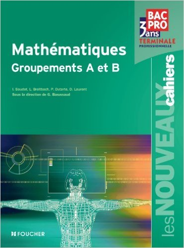 Les Nouveaux Cahiers Mathématiques Groupements A et B Tle Bac Pro de Denise Laurent ,Guy Barussaud ,Laurent Breitbach ( 11 mai 2011 )