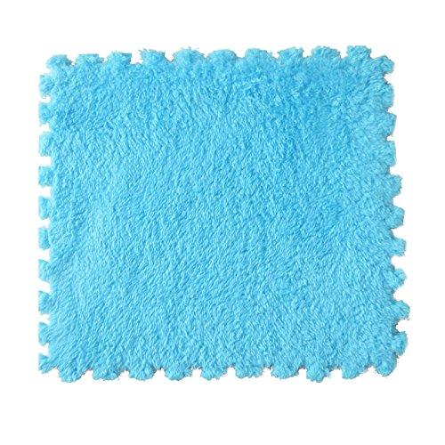 Foam Stitching Plus Samt EVA Kissen Dicker Große Schaum Matte Suede Nähte Decke Kinder Kissen Hand waschbar Schlafzimmer Teppich Fitness Gym Mat (60X60X1CM) (Blau, 1)