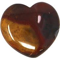 Edelstein Mookait Herz, 4 cm, 1 Stück, Edelsteinherz Steinherz gelb bis weinrot preisvergleich bei billige-tabletten.eu