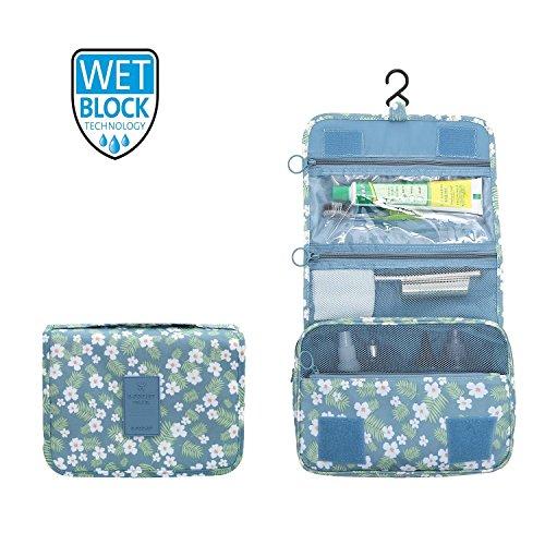 ElifeAcc Trousse de Toilette de Voyage Pliante Portable 7 litres BW Fleur