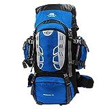Mooedcoe 75L Mochila Senderismo Tactica Mochila Hombre Impermeable de Trekking Viaje Montaña Acampada Escalada (Azul)