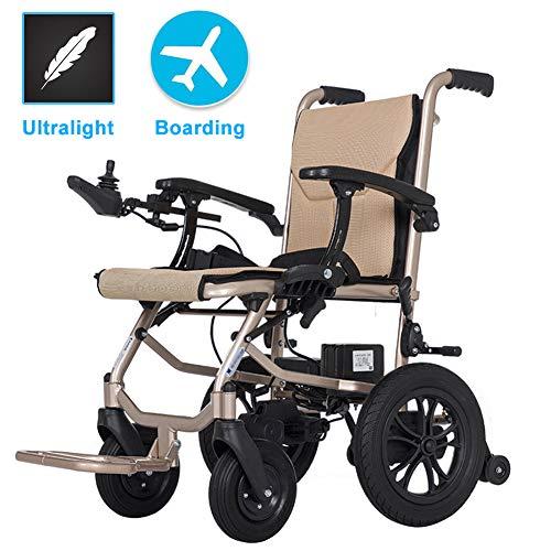 EMOGA Elektrischer Rollstuhl, Intelligente Automatische Elektrorollstuhl,16kg Aluminiumlegierung Faltbar Tragbare, Frei-Reiten,Sitzbreite 45cm,Abnehmbare Lithiumbatterie,Sitz Vertieft 6cm