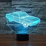 3D Lampe USB Power 7 Farben Amazing Optical Illusion 3D wachsen LED Lampe Auto Formen Kinder Schlafzimmer Nacht Licht