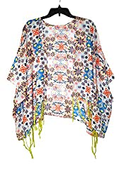 URBAN TRENDZ 2468 Polyester Printed Kimono topper